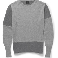 McQ Alexander McQueen - Panelled Wool and Cashmere-Blend Sweater | MR PORTER