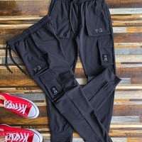 """""""Adidas Y-3"""" Unisex Casual Letter Print Pocket Draw String Sweatpants Couple Thickened Leisure Pants Trousers"""