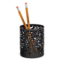 Realspace Brocade Pencil Cup Black by Office Depot