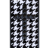 Houndstooth Black Studded Cross iPhone 5/5s Case