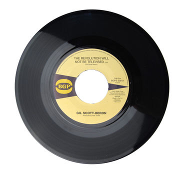 """Gil Scott-Heron: The Revolution Will Not Be Televised / Home Is Where The Hatred Is Vinyl 7"""""""