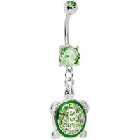 Dazzling Green Turtle Belly Ring | Body Candy Body Jewelry
