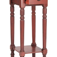 Sabrina End Table With Storage Drawer Red