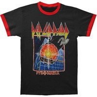 Def Leppard Men's  Pyromania Mens Ringer T Slim Fit T-shirt Black/Red