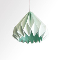 Water Drop / Origami Paper LampShade  Mint green by twReborn