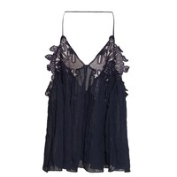 Embroidered tulle top | Chloé | MATCHESFASHION.COM US