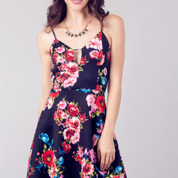 Floral Keyhole Dress