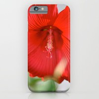 Red Hibiscus iPhone & iPod Case by Emilytphoto