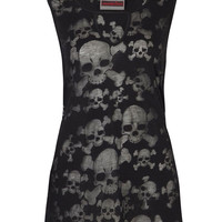 Jawbreaker Skull Burnout Tunic Top
