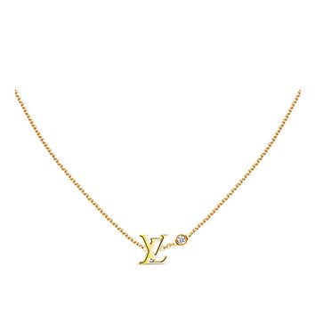 Products by Louis Vuitton: Idylle Blossom LV Pendant, Yellow gold and diamond