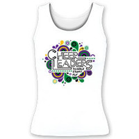 Printed Cheer Leaders Tumble Stunt Fly Fitted Tank Top