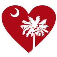 Palmetto Tree and Heart Decal
