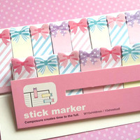 sweet present sticky memo colorful ribbon stick marker mini gift sticky flag little icon label planner sticker kids party decor food tag