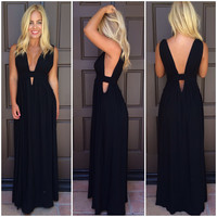 Kenya Cutout Maxi Dress - BLACK