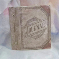 Hardback Cover for Journal, Never Used, Brand New, Destash, Art Supplies, Art Journaling, Faded Cover, Distressed, Fabric Cover
