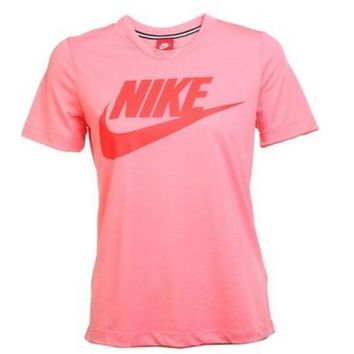 """Nike"" Simple Casual Classic Letter Print Round Neck Short Sleeve Cotton T-shirt"