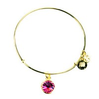 Alex and Ani October Birthstone Charm Bangle