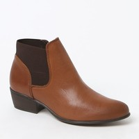 Steve Madden Rozamare Leather Upper Ankle Boots - Womens Boots - Brown