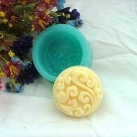 Clouds Round Flexible Silicone Mold Silicone Mould Candy Mold Chocolate Mold Soap Mold Polymer Clay Mold Resin Mold R0174