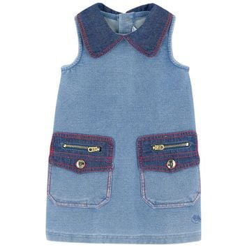 Little Marc Jacobs Baby Girls Denim Trapeze Dress (Mini-Me)
