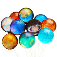 Galaxy Lollipops - Planets and Sun Collection: 10-Piece Gift Pack