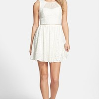 Junior Women's Way-In Lace Skater Dress