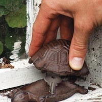 cast iron turtle shaped hide-a-key