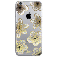 Flower Collage Dense Soft Silicone TPU Clear Transparent Phone Back Case Cover for iPhone 5 5s 6 6s 7 7 Plus