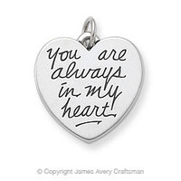"""""""You Are Always in my Heart"""" Charm from James Avery"""