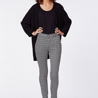 Missguided - Jesie Dogtooth Print Cigarette Trousers