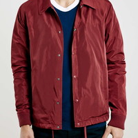 Burgundy Coach Jacket - Topman