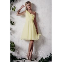 Christina Wu Occasions 22389 One Shoulder Ruffle Accent Bridesmaid Dress