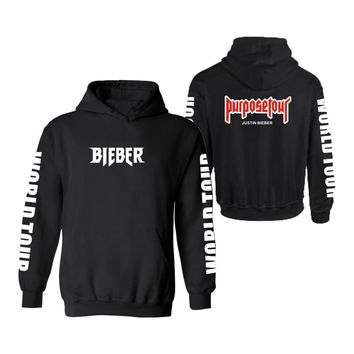Justin Bieber Purpose Tour Hooded Hoodies And Sweatshirts For Couples Winter Fashion Hoodies Men Hip Hop Funny Skateboard Clothe