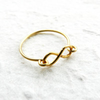 Infinity ring, Gold filled ring, Dainty ring, Symbol ring, Best friend ring, Tiny ring, wire ring