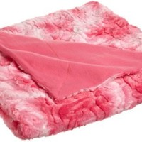 Northpoint Champlain Decorative Faux Fur Throw, Rose