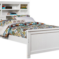 Cottage Colors White 3 Pc Full Bookcase Bed - Beds White