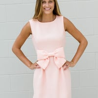Miss Proper Bow Dress - Blush