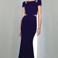 Floor Length Short Sleeve Gown AL3086 by Mignon