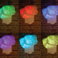 RAINBOW DREAM CLOUDS  hanging pendant lamps. Remote controlled colour changing clouds! 15 colours and patterns to play with :)