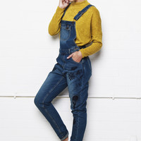 Liquor n Poker - LAX Deep South Texas Cactus embroidered dungarees in a relaxed fit