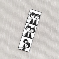 Photo booth brooch