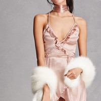 Selfie Leslie Satin Slip Dress