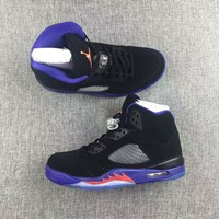 Nike Air Jordan 5 Retro Raptors Leather Sneaker Us5.5 12