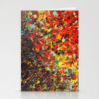 END OF THE RAINBOW - Bold Multicolor Abstract Colorful Nature Inspired Sunrise Sunset Ocean Theme Stationery Cards by EbiEmporium | Society6