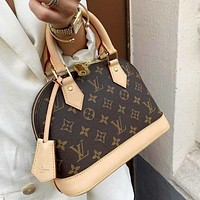 LV Louis Vuitton Alma BB classic letter printing handbag shoulder bag shopping bag Coffee