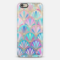 Glamourous Twenties Art Deco Pastel Pattern on Transparent iPhone 6 case by Micklyn Le Feuvre | Casetify