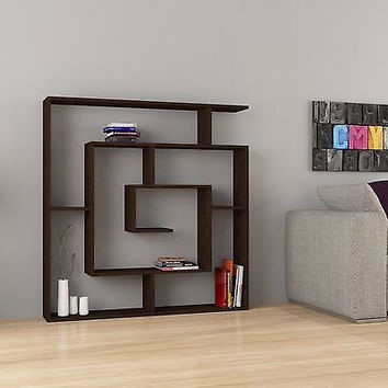 Labirent Modern Bookcase Dark Brown
