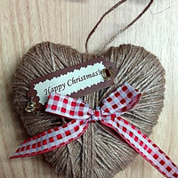 Hanging Heart, Decorations for tree, Gift for Christmas, Rustic Christmas, New Year decoration