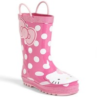 Girl's Western Chief 'Hello Kitty - Cutie Dot' Rain Boot,