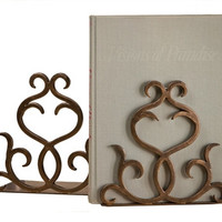 Flare Scroll Bookends